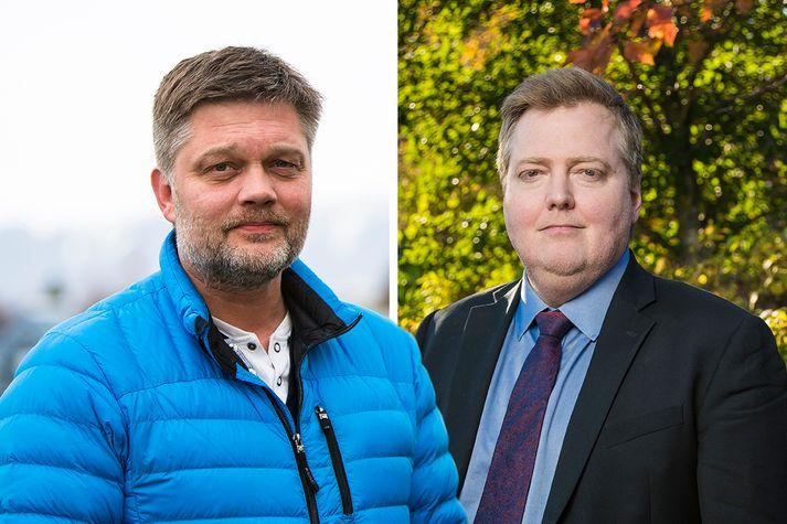 Sigmundur Davíð Gunnlaugsson og Jóhannes Kr. Kristjánsson.