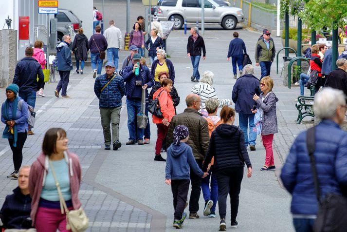 Það var sumar á Akureyri í dag.
