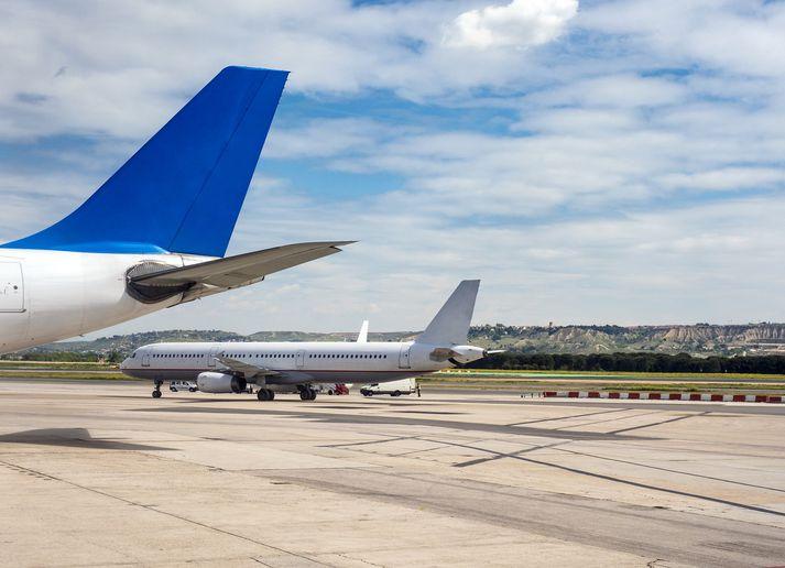 Boeing-vélar af gerðinni 737 MAX voru allar kyrrsettar í kjölfar flugslyssins í Eþíópíu í mars.