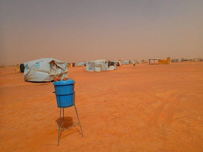 Frá flóttamannabúðum UNHCR í Malí
