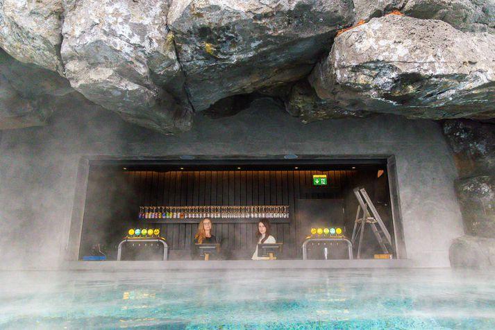 Ljósmyndari Vísis skoðaði Sky Lagoon í Kópavogi í dag.