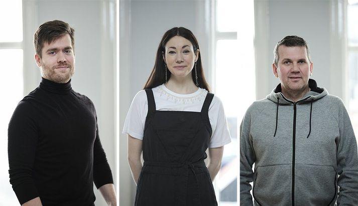 Grettir Gautason, Una Baldvinsdóttir og Jónas Unnarsson.