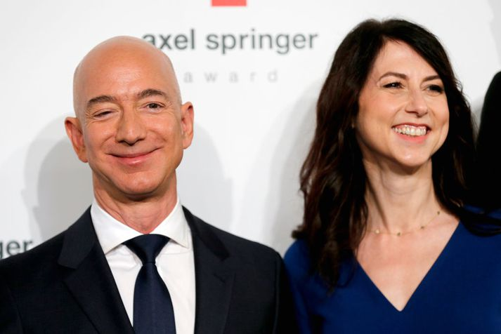 Jeff og McKenzie Bezos.