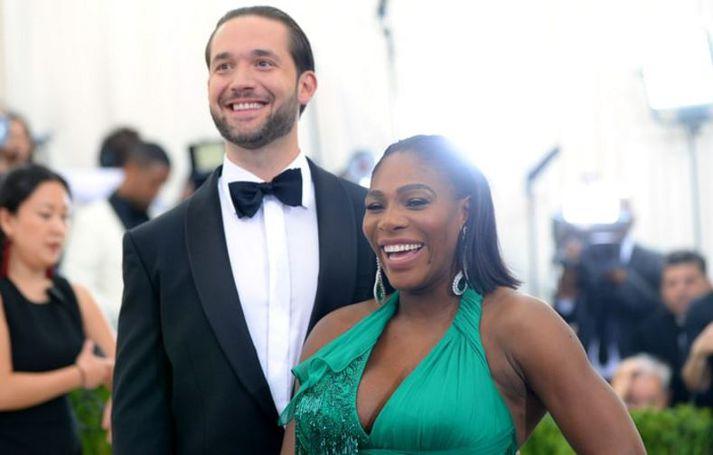 Alex Ohanian og Serena Williams á góðri stundu.