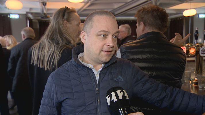 Bolli Ófeigsson, gullsmiður hjá Gullsmiðju Ófeigs, að loknum blaðamannafundinum í dag.