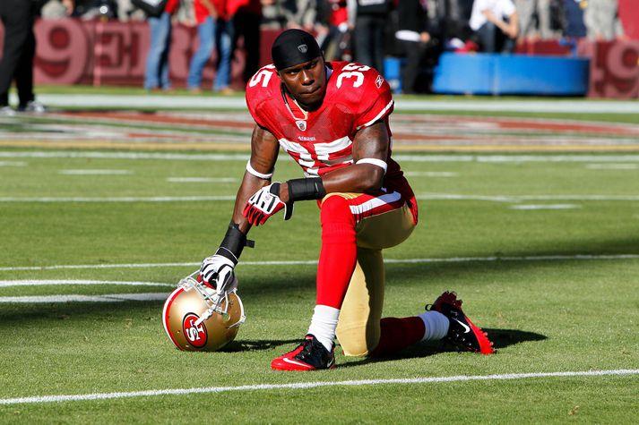 Phillip Adams í leik með San Francisco 49ers.