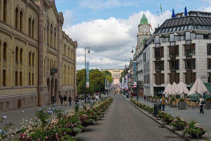 Karl Johans Gate í Osló.
