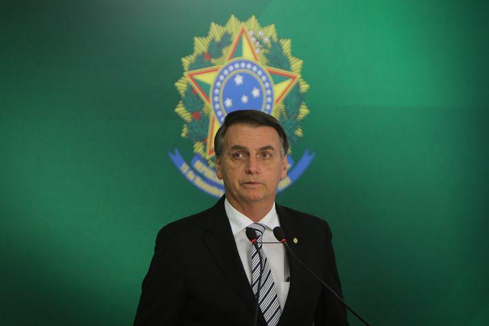 Jair Bolsonaro tekur við embætti forseta Brasilíu um áramót.