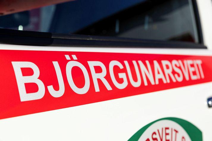 Barnið fannst fljótlega eftir að björgunarsveitir voru kallaðar út.