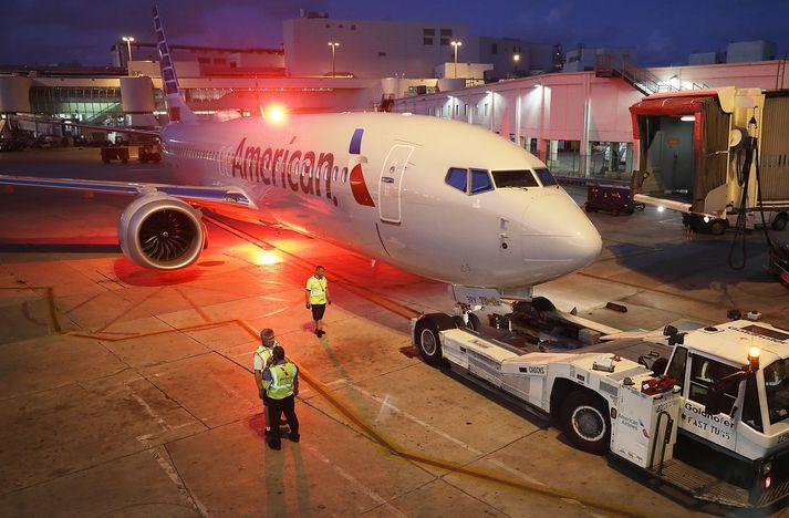 Boeing 737 MAX undir merkjum American Airlines.