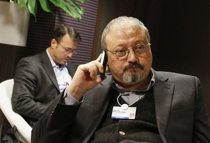Jamal Khashoggi var einn þeirra blaðamanna sem myrtir voru á árinu.