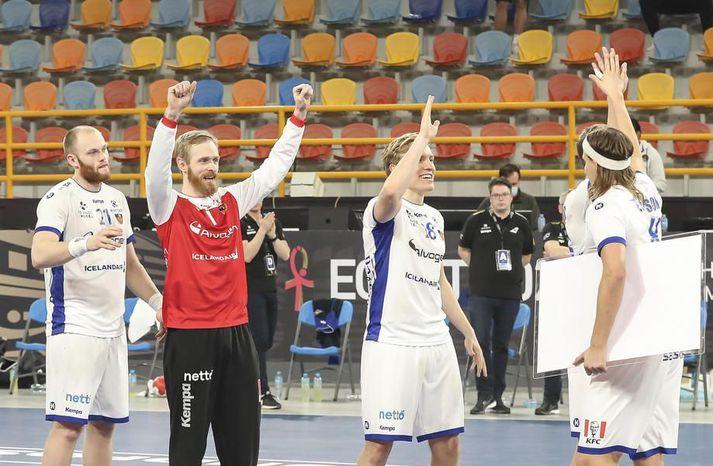 Fyrsti leikur Íslands á EM 2022 verður gegn Portúgal 13. janúar.