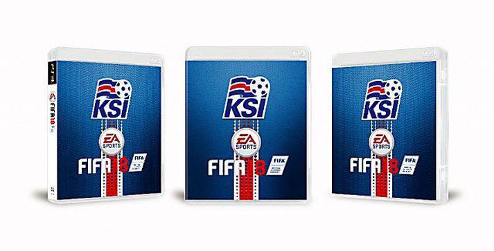 FIFA 18 hulstur í íslenskum búningi hafa vakið lukku hjá Íslendingum.