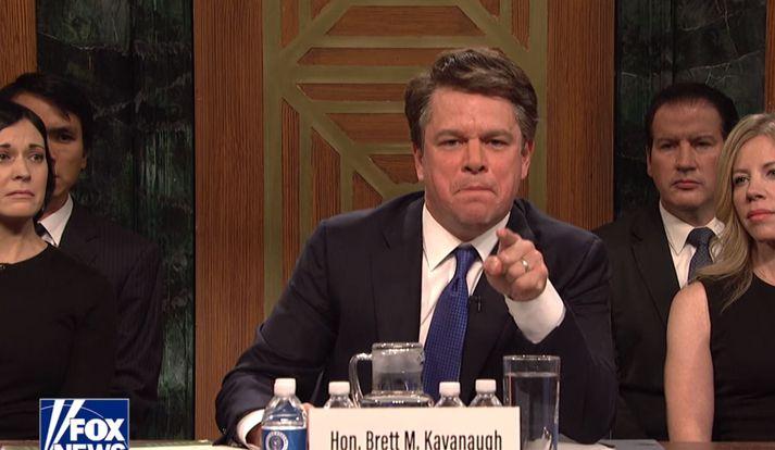 Matt Damon sem Brett Kavanaugh.