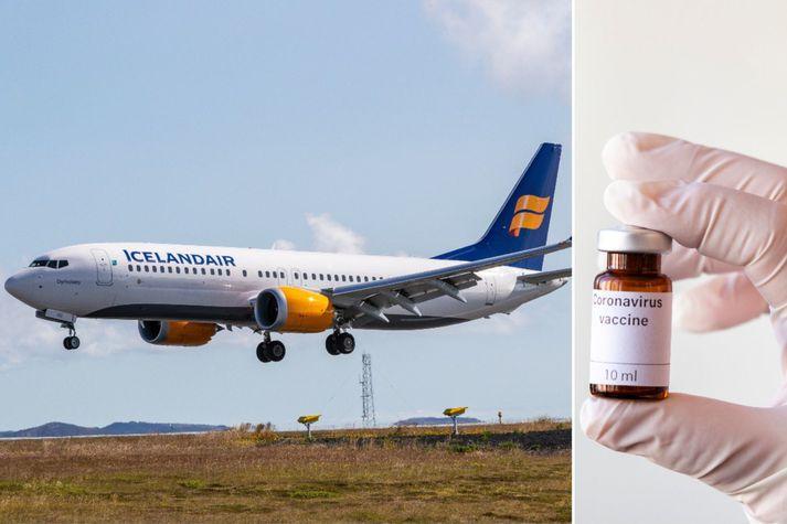 Upptaka skilyrðis um bólusetningu farþega hefur ekki komið til tals hjá stjórnendum Icelandair.