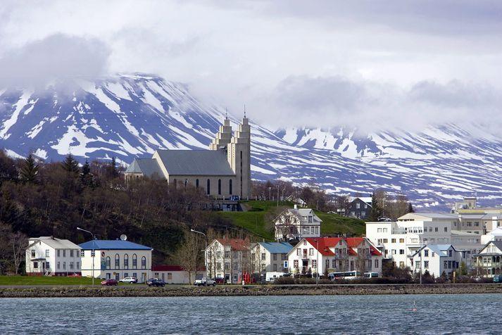 Loftgæði á Akureyri hafa verið slæm alla helgina.