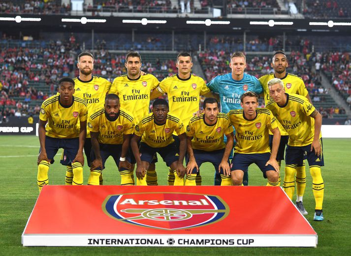 Leikmenn Arsenal fyrir æfingaleik gegn Bayern á dögunum