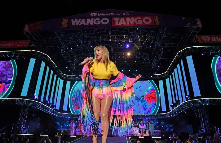 Taylor Swift á iHeartRadio Wango Tango hátíðinni í byrjun júní.