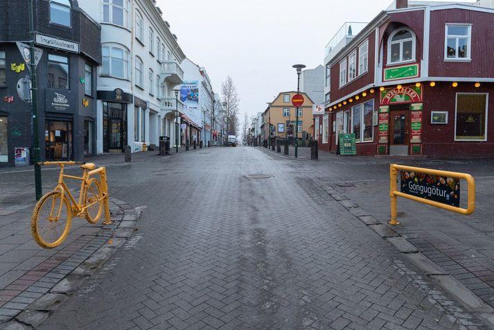 Tilkynnt var þjófnaðinn síðdegis í gær.