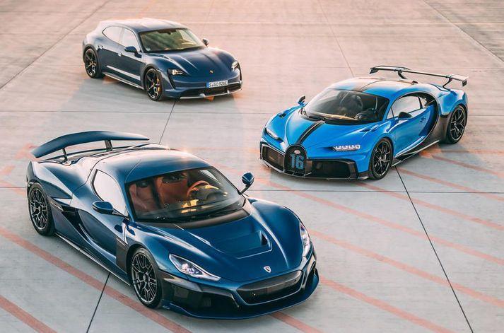 Rimac, Bugatti og Porsche eru á leið í samstarf til að þróa næstu kynslóð ofurbíla.