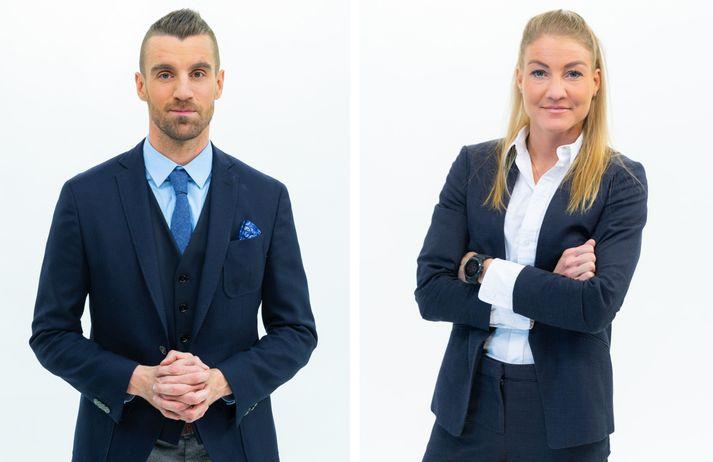 Kjartan Atli Kjartansson og Pálína Gunnlaugsdóttir stýra umfjöllun Stöðvar 2 Sports um Domino's deildirnar í körfubolta.