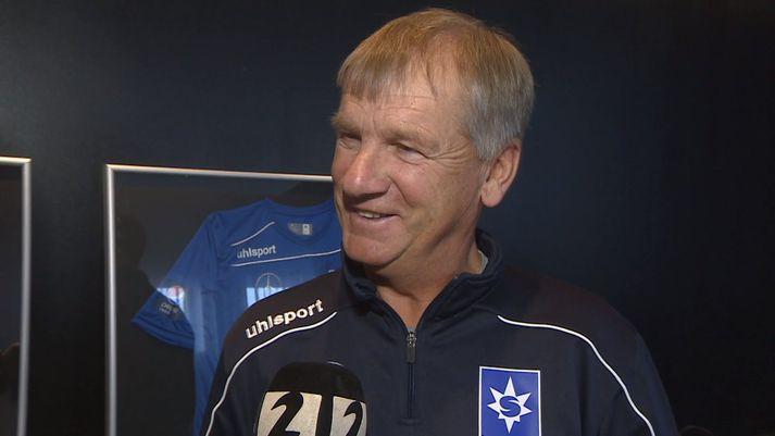 Ólafur var léttur þegar Arnar Björnsson ræddi við hann í dag.