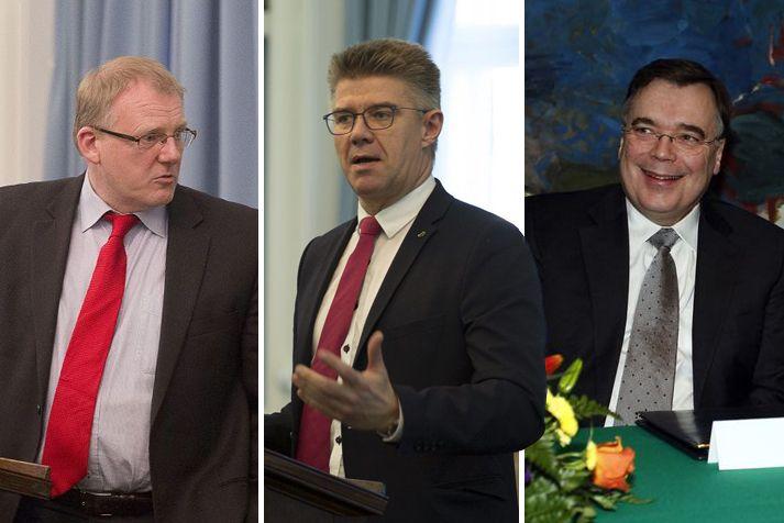 Árni Þór Sigurðsson, Gunnar Bragi Sveinsson og Geir H. Haarde en Gunnar skipaði þá Geir og Árna sendiherra þegar hann var utanríkisráðherra.