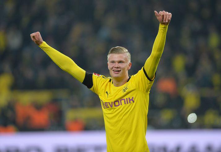 Håland fer frábærlega af stað með Dortmund.