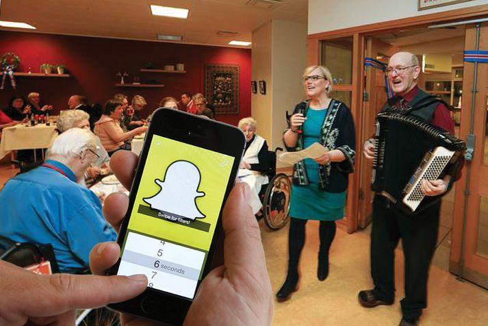 Núna getur hver sem er fengið innsýn í starfið á Hrafnistu í gegnum Snapchat.