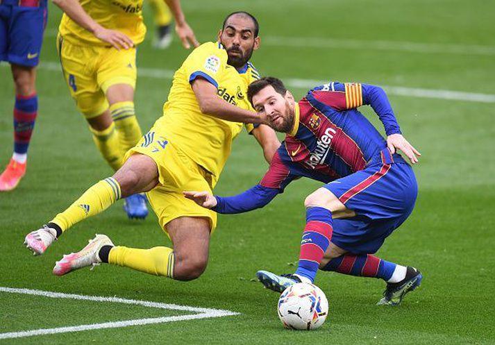 Messi skoraði í dag en það dugði ekki til. Svekkjandi vika fyrir Barcelona.