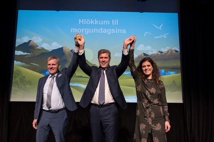 Frá flokksráðsfundi Sjálfstæðisflokksins í dag.