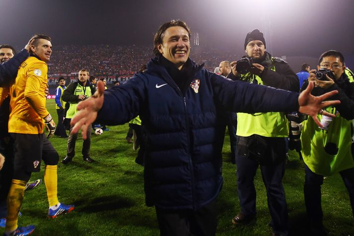 Niko Kovac fagnar sigri á Íslandi í nóvember 2013.
