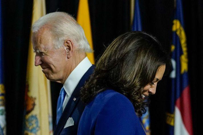 Joe Biden og Kamala Harris taka við stjórnartaumunum í Hvíta húsinu þann 20. janúar.