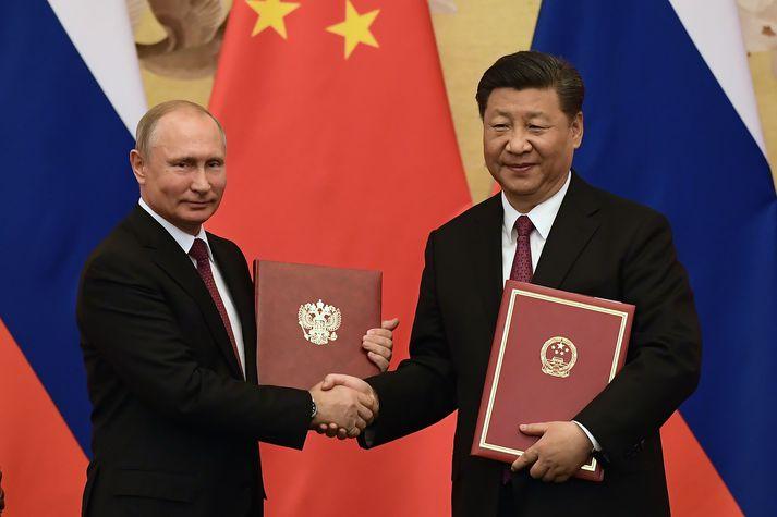 Hvorki Vladímír Pútín né Xi Jinping hafa tjáð sig opinberleg um kosningasigur Biden og Harris.