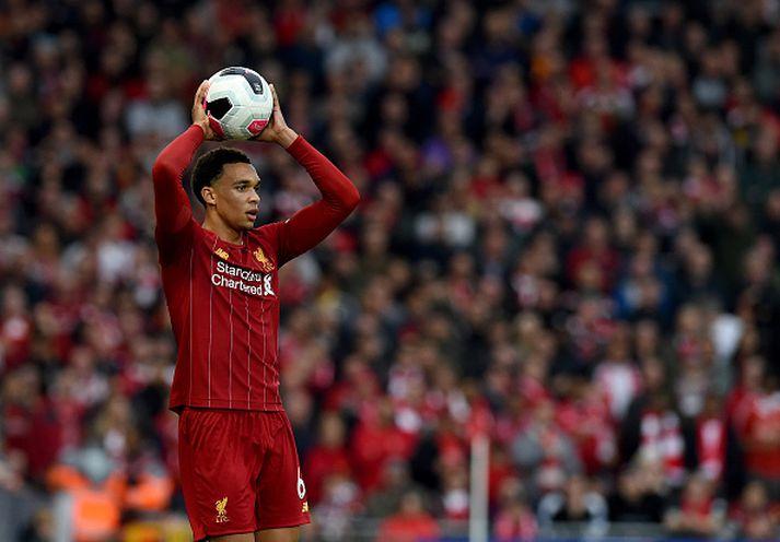 Arnold í leik með Liverpool gegn Leicester á dögunum.