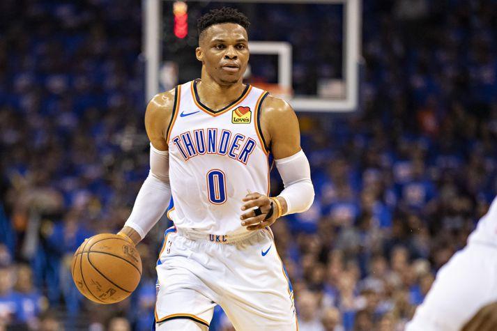 Westbrook var valinn verðmætasti leikmaður NBA-deildarinnar 2017.