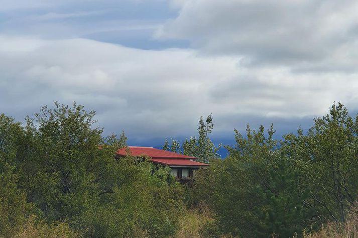 Sumarbústaðurinn í Heyholtslandi í Borgarfirði þar sem amfetamínsframleiðslan fór fram.