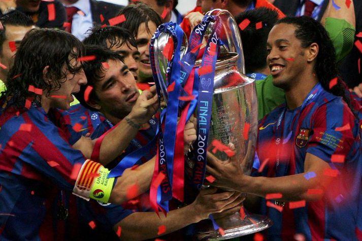 Ronaldinho og Deco unnu Meistaradeildina með Barcelona.