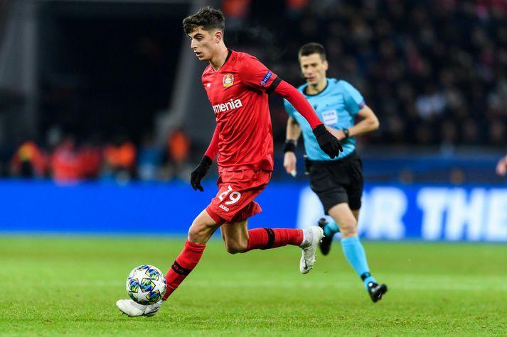 Kai Havertz í leik með Bayer Leverkusen.