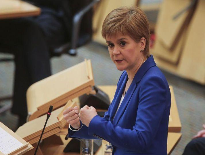 Nicola Sturgeon er forsætisráðherra Skotlands.