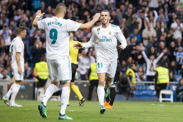 Gareth Bale fagnar marki með Real Madrid. Skiptir hann úr hvítu yfir í rautt?