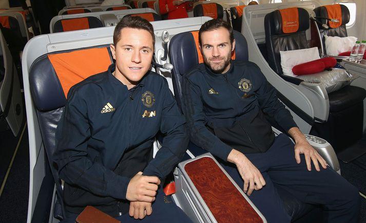Herrera og Mata hafa báðir verið hjá United síðan 2014.