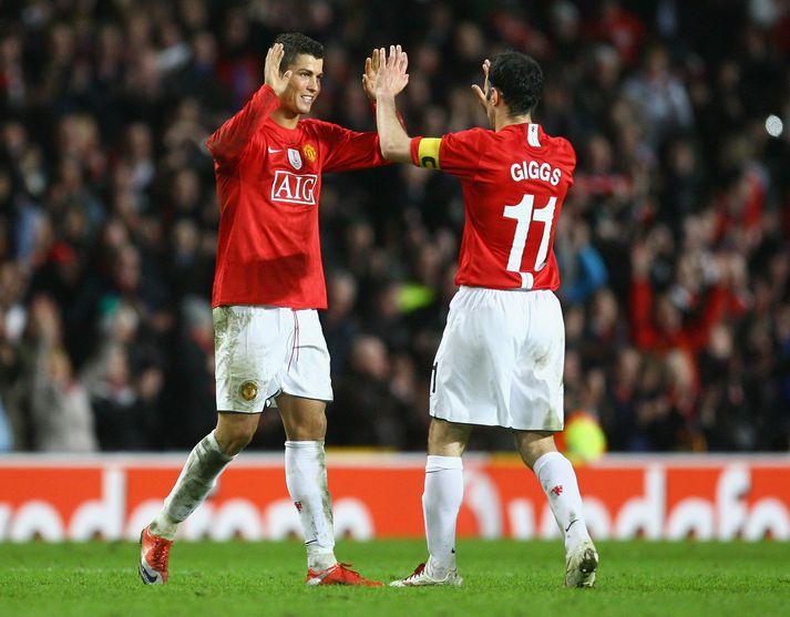 Ronaldo og Giggs áttu góðar stundir á Englandi