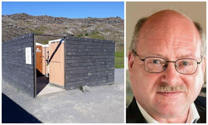 Friðrik Rafnsson leiðsögumaður vakti athygli á slæmri umgengni á almenningskömrum á Þingvöllum í Facebook-færslu í gær.