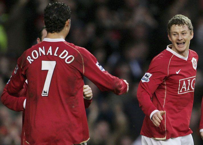 Ronaldo var númer sjö er hann lék með Manchester United frá 2003 til 2009.