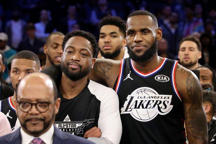 Dwayne Wade og LeBron James eru góðir félagar