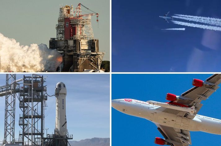 Geimskot Blue Origin og Virgin Orbit heppnuðust en villa kom upp við tilrauna NASA.