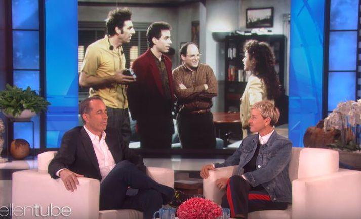 Jerry Seinfeld var skemmtilegur hjá Ellen.