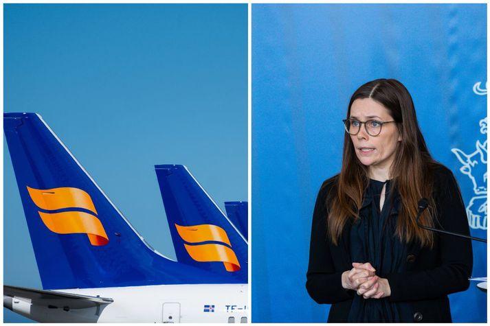 Forsætisráðherra segist ekki gera ráð fyrir því að ríkið gangi inn í eignarhald Icelandair Group.