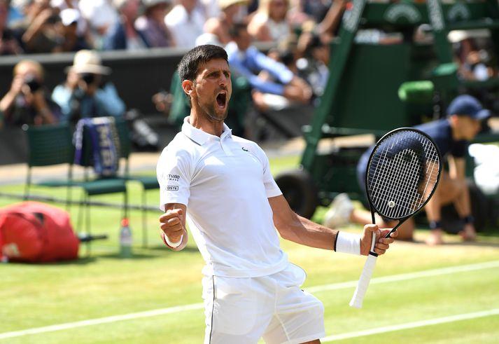 Djokovic hefur sex sinnum komist í úrslit á Wimbledon.